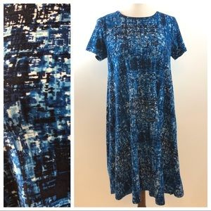 Lularoe Blue Carly Dress Size XXS